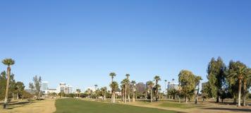 Green Lawns in Phoenix Downtown, AZ Royalty Free Stock Photo