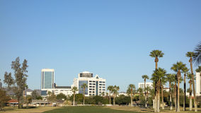 Green Lawns in Phoenix Downtown, AZ Royalty Free Stock Photography