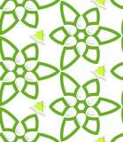 Green layered floristic swirl lace seamless pattern Stock Photos
