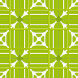Green layered ornament seamless with grid Stock Photography