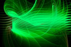 Green layers fractal Stock Photos