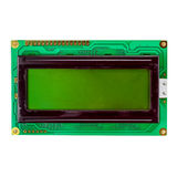 Green LCD display isolated on a white background Royalty Free Stock Photos