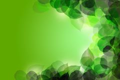 Green leaf abstract background. Green leaf glow abstract background vector illustration