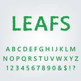 Green leaf alphabet Royalty Free Stock Photos