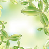 Green leaf background stock illustration