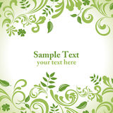 Green leaf banner set Royalty Free Stock Image