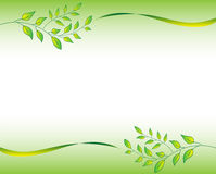 Green Leaf Border Stock Images