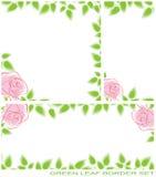 Green leaf border set Royalty Free Stock Photo