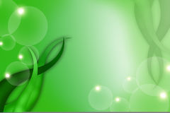 Green leaf and bubble, abstract background Royalty Free Stock Image