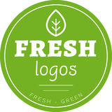 Green leaf circle logo vector Stock Photography