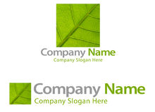 Green leaf company logo Royalty Free Stock Photo