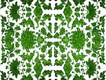 Green Leaf Damask Stock Photography