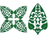 Green Leaf design. Green leaf in different style Royalty Free Stock Photos