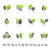 Green leaf design elements Stock Photos
