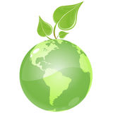 Green Leaf Earth Stock Photo