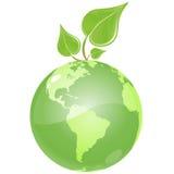 Green Leaf Earth royalty free illustration