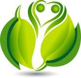 green leaf Eco friendly logo royalty free illustration