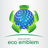 Green leaf. Eco icon. Royalty Free Stock Image