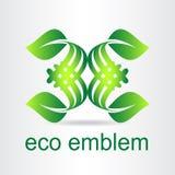 Green leaf. Eco icon. Stock Photos