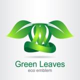 Green leaf. Eco icon. Royalty Free Stock Photos