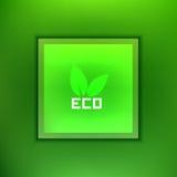 Green leaf eco logo ,vector illustration Stock Images