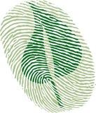 Green leaf fingerprint Royalty Free Stock Photos