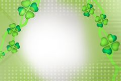 green leaf flowers, abstract background Royalty Free Stock Images