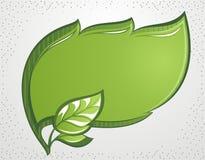 Green leaf frame. Vector green decorative leaf frame stock illustration