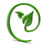 Green leaf icon Royalty Free Stock Images