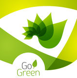 Green leaf icon concept Stock Image
