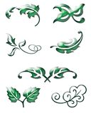 Green Leaf icons. A set of green leaf icons Stock Photos