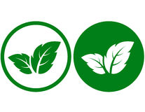 Green leaf icons Royalty Free Stock Photo