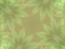 Green Leaf Impressions Pattern Stock Photos