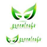 Green leaf logo concept Stock Photos