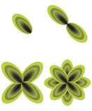 Green leaf logo designs. Isolated on white Royalty Free Stock Photos