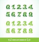 Green leaf logo number set Royalty Free Stock Image