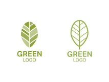 Green leaf logo. Organic concept. Green leaf logo. Ecology, environment, organic concept vector Stock Image