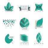 Green leaf logotipes set Stock Images