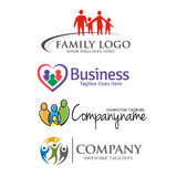 happy family logo Stock Image