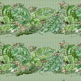 Green leaf pattern 1. Background of green leaves in a seamless pattern Stock Images