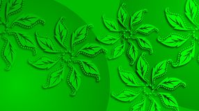 Green leaf pattern background with lighting effect Royalty Free Stock Photos