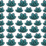Green leaf pattern stock illustration