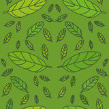 Green leaf pattern. Green leaf seamless pattern in eps10 stock illustration