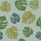 Green leaf pattern ,seamless sketch vector. Royalty Free Stock Photography