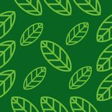 Green leaf pattern vector design. For your industry business Stock Photos