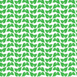 Green leaf pattern vector illustration Stock Photography