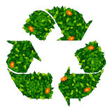 Green leaf recycling symbol Royalty Free Stock Photography