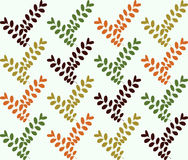 Green leaf seamless pattern for summer and spring Stock Photography