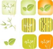 Green leaf set Royalty Free Stock Image