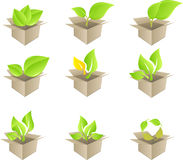 Green leaf set stock illustration